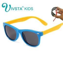 eb7a07f2e4 IVSTA Gafas de sol para niños Gafas para niñas Gafas de sol para niños Bebé  para niño Verano polarizado UV400 Silicona flexible suave TR90 CE FDA 802