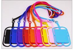 Silikon Lanyards Halsband Halskette Sling Card Holder Strap Schlüsselanhänger für iPhone Samsung Huawei Universal Mobile Phone