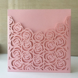 Shop rose paper cutting uk rose paper cutting free delivery to uk 30pcs laser cut pearl paper christening greeting blessing card flower rose design wedding invitation postcard card mightylinksfo