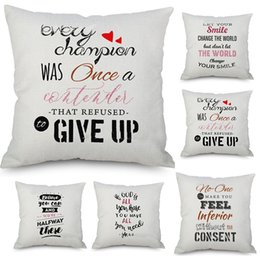 Car style pattern online shopping - Christmas Pillow Case Cushion Covers Letter Pattern Pillowcase Art Cushion Cover Sofa Car Decor Gift Without core Style WX9