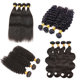 $enCountryForm.capitalKeyWord UK - Cheap Brazilian Virgin Hair 4bundles Straight Wavy Curly Peruvian Malaysian Indian Unprocessed Human Hair Bundles Remy Hair Wefts