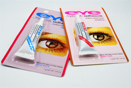 Top False Eyelashes Australia - Adhesive False Eyelashes Eye Lash Glue Makeup Clear White Black Waterproof Makeup Tools 7g Top Quality