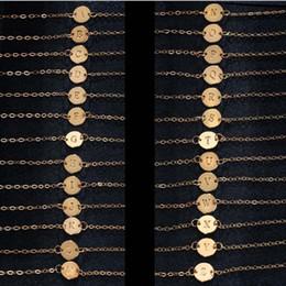 $enCountryForm.capitalKeyWord Australia - 17KM Fashion Letter Bracelet & Bangle For Women Simple Adjustable Gold Color Name Bracelets Pulseras Mujer Jewelry Party Gifts