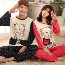 103e293c52 M-3XL Long Sleeve Sleepwear Men Lounge Pijama Couple Pajamas Set Autumn  Spring Cotton Fabric Cartoon Women Pyjamas Plus Size