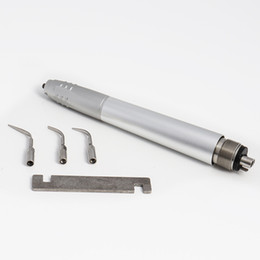 Dental Air Ultrasonic Scaler Handpiece Perio Hygienist 2 4Holes 3 Tips Air Scaler on Sale