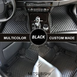 $enCountryForm.capitalKeyWord NZ - Custom Car Floor Mats for Mitsubishi Pajero ASX Grandis Lancer Outlander 3 Mat Car Carpets Waterproof Custom Fit
