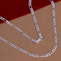 $enCountryForm.capitalKeyWord Australia - Fine 925 Sterling Silver Necklace,Fashion Men Women Necklace XMAS New Style Trendy 4mm Curb 28inch Chain Necklace Link Italy Hot 2018 AN102