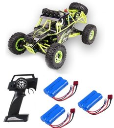 Discount plastic trucks - RC Car WLtoys 12428 4WD 1 12 2.4G 50km h High Speed Cars Monster Truck Radio Control RC Buggy Off-Road Updated Version V