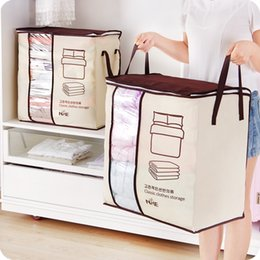 Discount under clothing - Non-Woven Family Save Space Organizador Bed Under Closet Storage Box Clothes Divider Organiser Quilt Bag Holder Organize