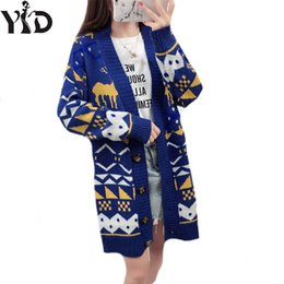 6b70ee56e80 2018 autumn winters loose fat younger sister female long lazy the wind  sweater cardigan knitting coat