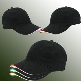Fiber optic parties online shopping - Newest Baseball Hats Led Luminous Party Cap Women Men Hockey Snapback Basketball Ball Caps Unisex Fiber Optic Hat Visor Tourism