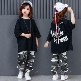 4ab3ad1244af Camouflage Pants Ballroom Jazz Hiphop Street Dance Clothes Suits Children  Hip Hop Dance Costumes Kids Boys Girls Women Men