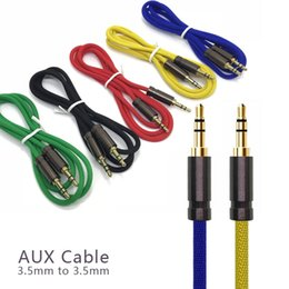 Universal Wire Cloth Australia - 3.5 Jack Audio Braided Cable Jack 3.5 mm Stereo Male to Male Cloth Audio Aux Cable For iPhone Car Headphone Speaker Wire cable Aux Cord