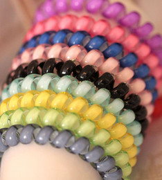 Discount hair for girls - Wholesale Girl WomenTelephone Line Gum Cord Elastic Ponytail Holders Hairband Headband Ring Rope Scrunchy Gum For Hair S