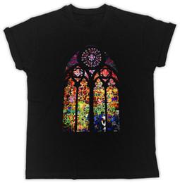 Art Church Australia - Banksy Stained Glass T-shirt - Church Window Graffiti Urban Art Men Women T-shirt Men Adult Slim Fit T Shirt S - Xxxl