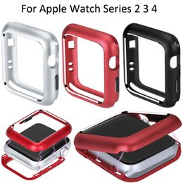 Wholesale Magnetic Metal Case Cover For Apple Watch Series mm mm iWatch mm mm Magnet Adsorption Protective Frame Shell Cases