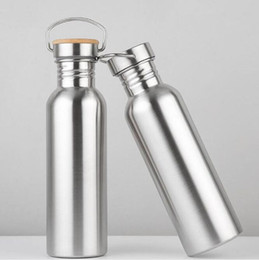 $enCountryForm.capitalKeyWord NZ - Free Shipping 50pcs lot 750ml Wide Mouth Vacuum Insulated Travel Bottles Bicycle Stainless Steel Water Bottle With Handle