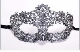 $enCountryForm.capitalKeyWord UK - Lace Venetian Half face flower mask Masquerade Party on stick Mask Sexy Halloween christmas dance wedding Party Mask supplies zx2