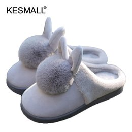 $enCountryForm.capitalKeyWord Canada - shoes Pink Slippers Women and men Cotton Slippers In Winter House Lovely Rabbit Indoor Slippers Pregnant Woman HOT SALE