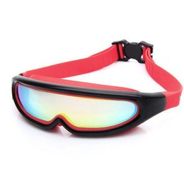 1f7bcc38855f Large Frame Electroplate Antifogging Swimming Goggles Adult One Mirror Swim  Glasses Anti Fog Adjustable Outdoor Girls Boys 14zt dd