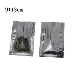 coffee packages UK - 9*13cm Dried Food Coffee Powder Heat Sealable Vacuum Package Bags Retail 200pcs lot Clear Front Open Top Plastic Aluminum Foil Mylar Bags