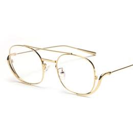 e7841e9ba64 Male men glasses frame optical 2019 rose gold metal vintage eyeglass frames  for women square clear lens