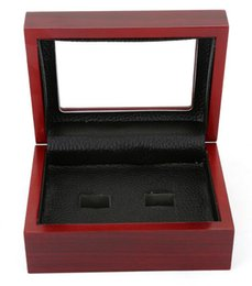 Chinese  New Fine den Box Championship Ring Display Case Wooden Boxes Ring 2 3 4 5 6 Holes To Choose Rings Box Jewelry Boxes manufacturers