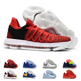 83bd3a00b180 18 Mens zoom KD Basketball Shoes 2018 Top quality KD 10 Oreo Be True  UniversIty Red White Chrome Kevin Durant Outdoor Sneakers Sports Shoes