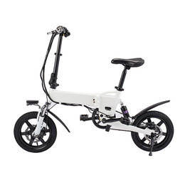 Black Bike White Seat Australia - KV1420 Smart Folding Bike Electric Moped Bicycle 5.2Ah Battery   EU Plug   with Double Disc Brakes