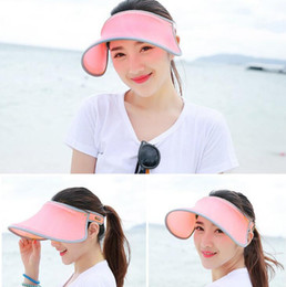 Anti Uv Sun Visor Canada - Summer fashion sun hats women high quality beach empty top hat anti-UV sunbonnets ladies girls outdoor sports adjustable cap nice visors