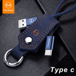 $enCountryForm.capitalKeyWord NZ - Denim Fabric car Key Chain Lightning to USB Cable keyring for iPhone Aluminum Alloy USB Connector Fast Charging Cable Type C Keychain Cable