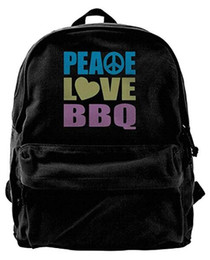 $enCountryForm.capitalKeyWord UK - Peace Love Bbq Canvas Shoulder Backpack Best Sports Backpack For Men & Women Teens College Travel Daypack Black