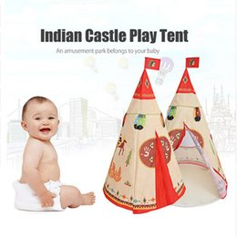 Net Games Australia - indian game tent Princess Teepee Play House Indoor Outdoor Play Tent For children Role Game baby castle crib net 102