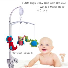 w toys Australia - 95CM ( 37.4 inch) High Baby Crib Toys Holder Bracket for all types of cribs and playards, 3 Nut Screws, W  Cross & Windup Music Box