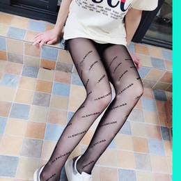 Venta al por mayor de 2018 moda BB carta logo mujer medias Negro pantimedias delgado jacquard mameluco medias de seda mujer verano sexy Leggings señoras encaje tan