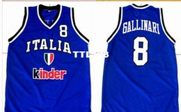 Chinese  Retro Men's Customized #8 Danilo GALLINARI Team Italia Italy Vintage Jersey Embroidery Stitched high quality embroidery Jerseys manufacturers