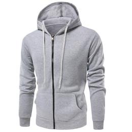 popular clothing brands men 2019 - Men's clothing brand winter popular leisure fashion hip hop fitness sportswear autumn new solid color zipper pocket
