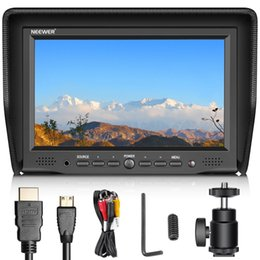 field monitors NZ - wholesale 7 inches Camera Field Monitor VGA AV HDMI Input IPS Screen 800:1 for Canon Nikon Sony Pentax DSLR Camera Video Monitor