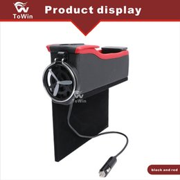 Usb Cup Holder Canada - Car Organizer, Dual USB interface Charger,Bottle Cup Holder,Wallet,Multifunctional Durable Stowing Tidying Storage Box Interior Accessories
