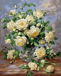 $enCountryForm.capitalKeyWord Australia - Flower Handpainted & HD Print Abstract Still Life Art oil painting On Canvas Home Deco Wall Art High Quality Frame Options l199