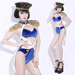 nightclub female uniforms 2019 - Stage Ds Costumes Sexy Honor Guard Uniform Nightclub Costumes for Singer Gogo Lead Bodysuit DJ Female Performance Dance
