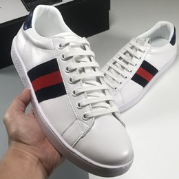 Handmade suede sHoes online shopping - Luxury brand ACE casual shoes designer white shoes suede leather handmade high quality luxury shoes size