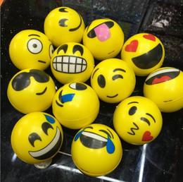 $enCountryForm.capitalKeyWord Australia - 6.3CM Funny Emoji Sponge Squeeze Stress Ball Wrist Finger Training Balls Soft Sponge PU Bouncy Ball Kids Novelty Toys Decompression toys