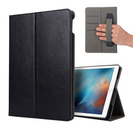 Leather Case Ipad Mini Brown NZ - Luxury Business PU Leather Case With Strap Card Slot Kickstand Cover For iPad 2 3 4 5 6 Air 2 new pro 9.7 10.5 11 12.9 2018 mini 1 2 3 4 Opp