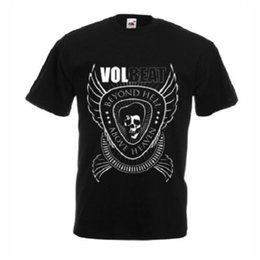 0866b4ed Design T Shirts Casual Cool Crew Neck Short-Sleeve Office Volbeat Rock Band  T-shirt Black New Tee For Men