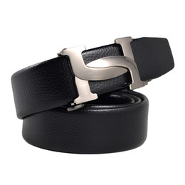 76cb3e39916e Designer Belts Men High Quality Leather Mens Belt Luxury 100% Genuine  Leather Smooth Buckle Belts For Men s Trousers