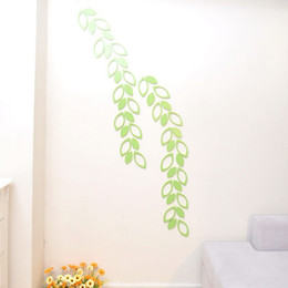 Removable wall stickeRs foR childRen online shopping - Popular DIY D Wall Sticker For Child Room Decorations Paster Leaves Shape Wooden Wall Stickers Hot Sale hj B