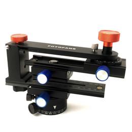 Pro Dslr Camera NZ - Latest Version Pro Panoramic Kit Tripod Head Gimbal Bracket Plate Rail Slider 360 Degree Rotated Four Different Angles for DSLR Cameras