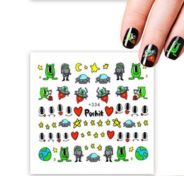 Wholesale 1pcs Cartoon Nail Sticker Fruit Water Decals Transfer Colorful Slider Tips Nail Art Watermelon Decor ASa137