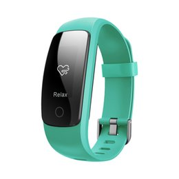 smart track Australia - ID107Plus HR Smart Heart Rate Music Control Bracelet Monitor Bluetooth Wristband Health sport Fitness Tracking For Android iOS